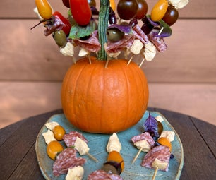 Cheese and Charcuterie on a Pumpkin