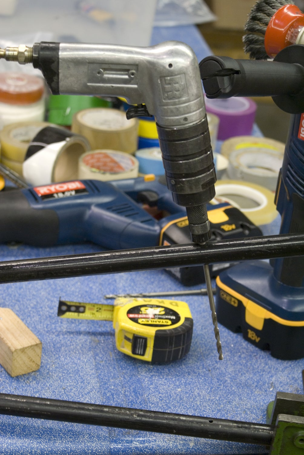 Drill Holes for Attaching the Peg Boards