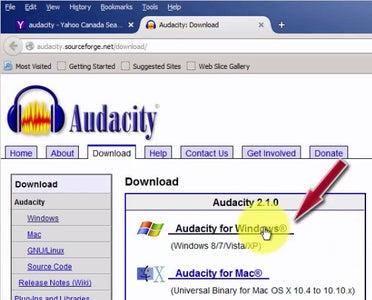 Download Audacity