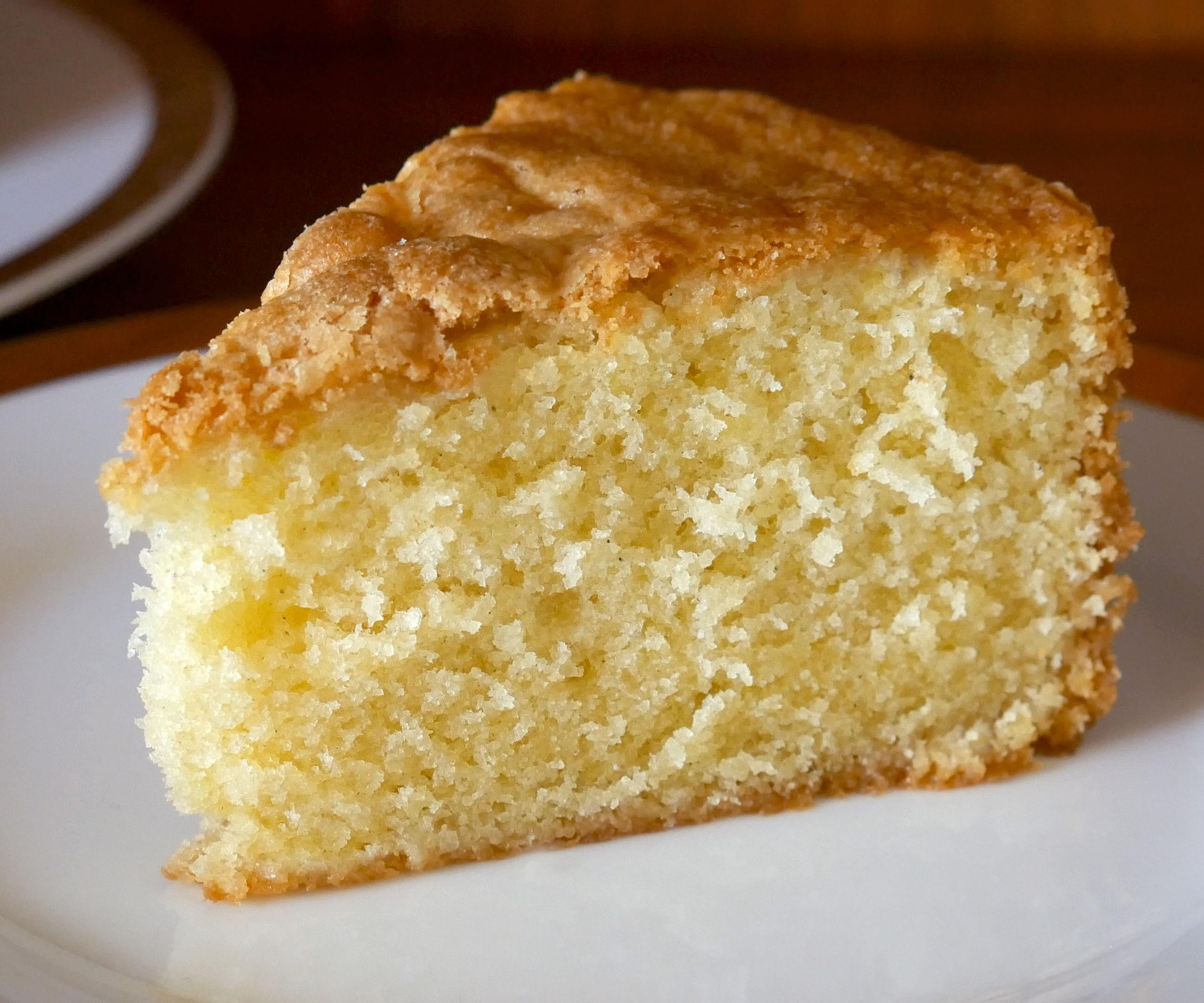 SIMPLE VANILLA SPONGE (POUND) CAKE