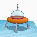 Spaceship 3D Design in TinkerCad