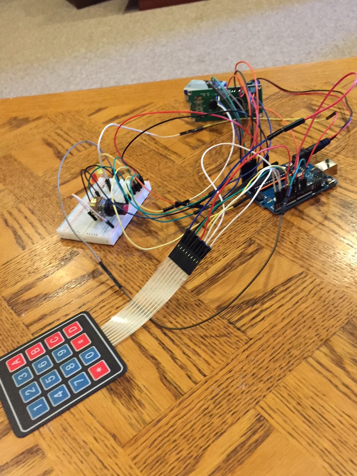 Arduino - Security Panel System With Using Keypad and LCD Display