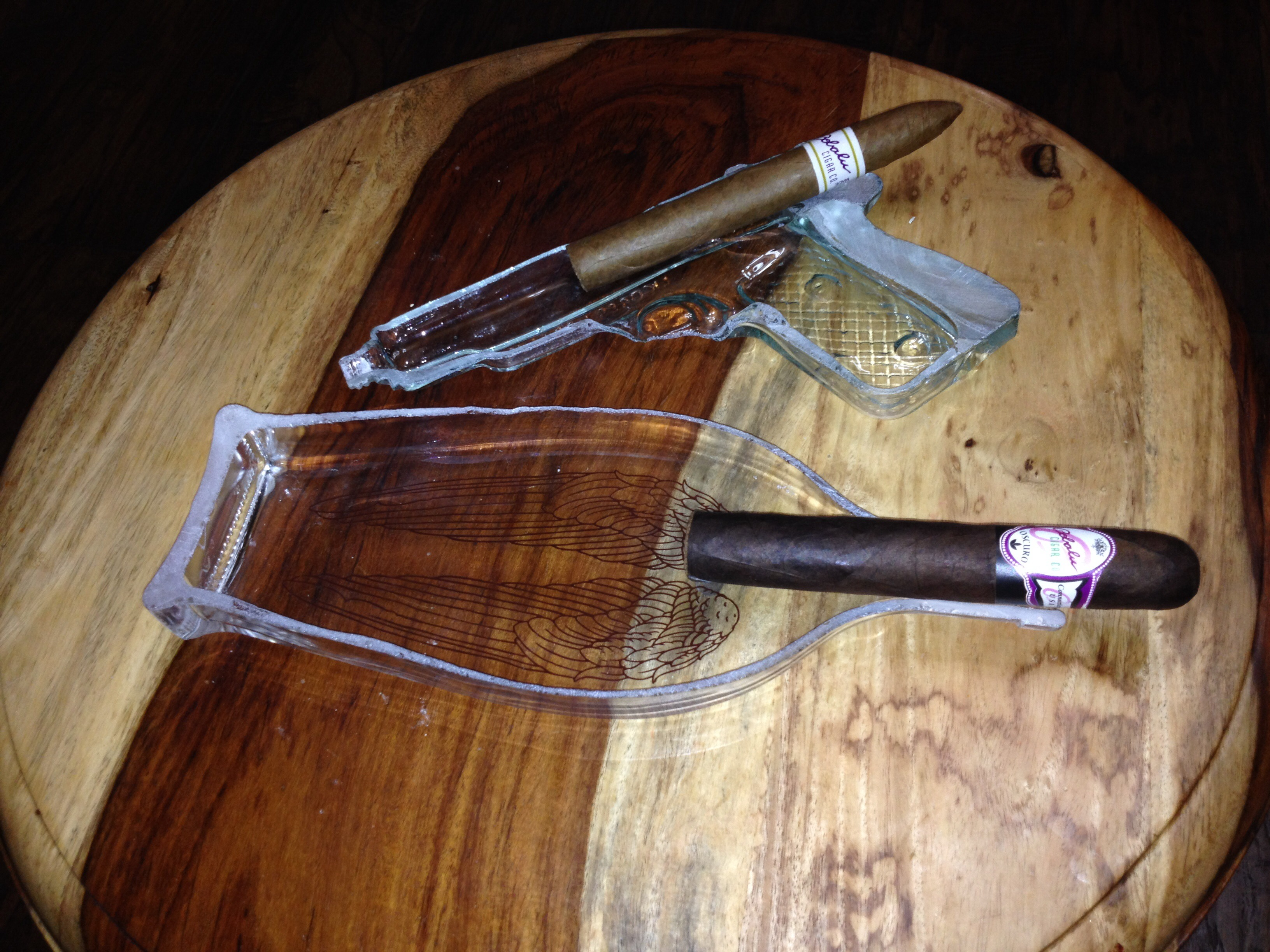 Cut Glass Cigar Ashtray