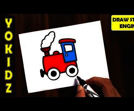 HOW TO DRAW STEAM ENGINE