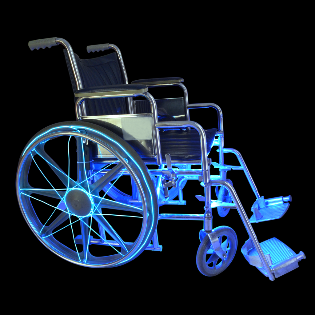 El Wire/Led Light Wheelchair Step-By-Step Tutorial