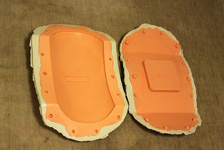 Making the Molds - Arm Panel and Gun Box