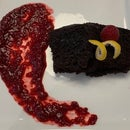 Crazy Cake With Raspberry Compote