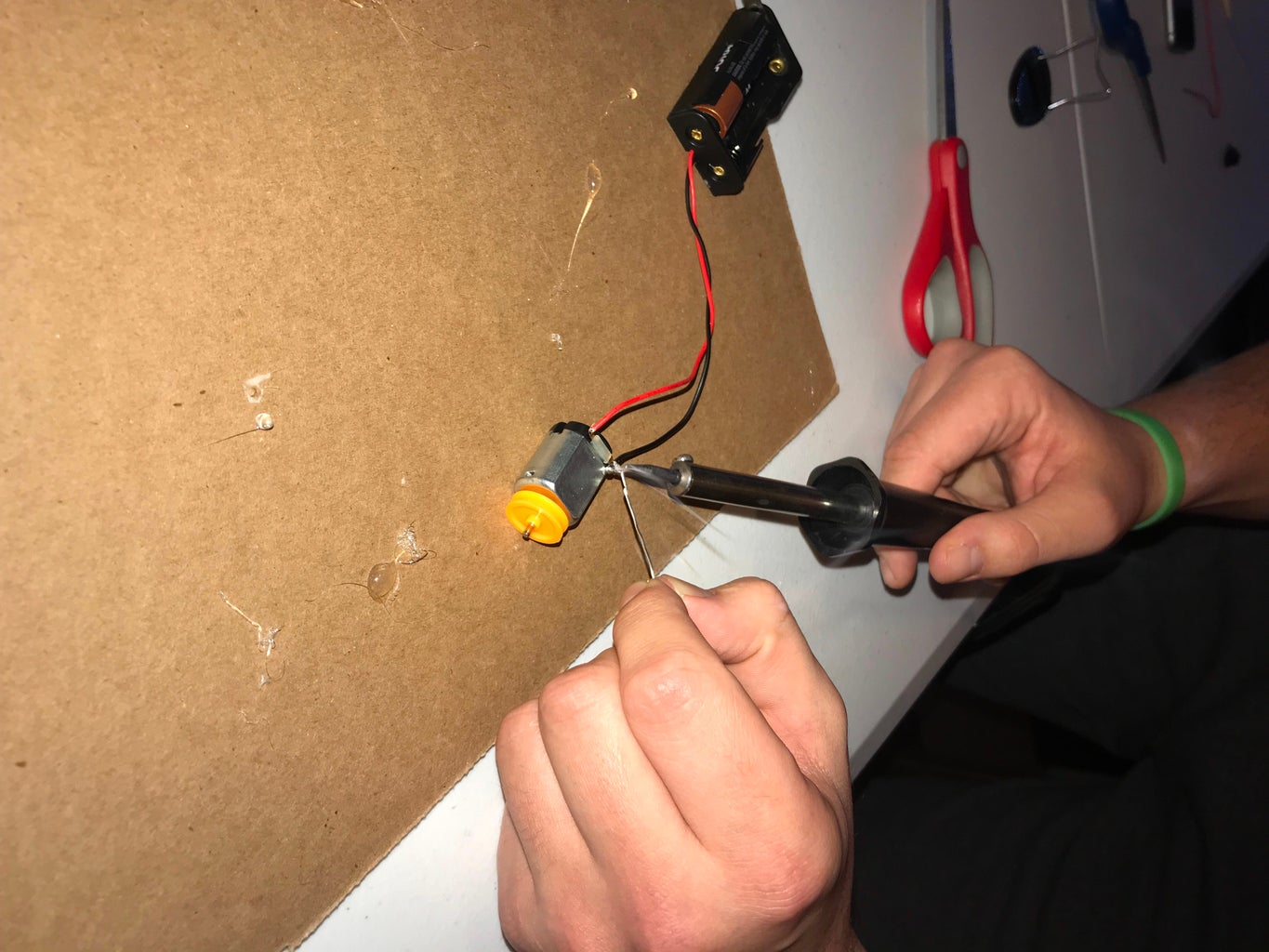 Soldering Wires to the Motor