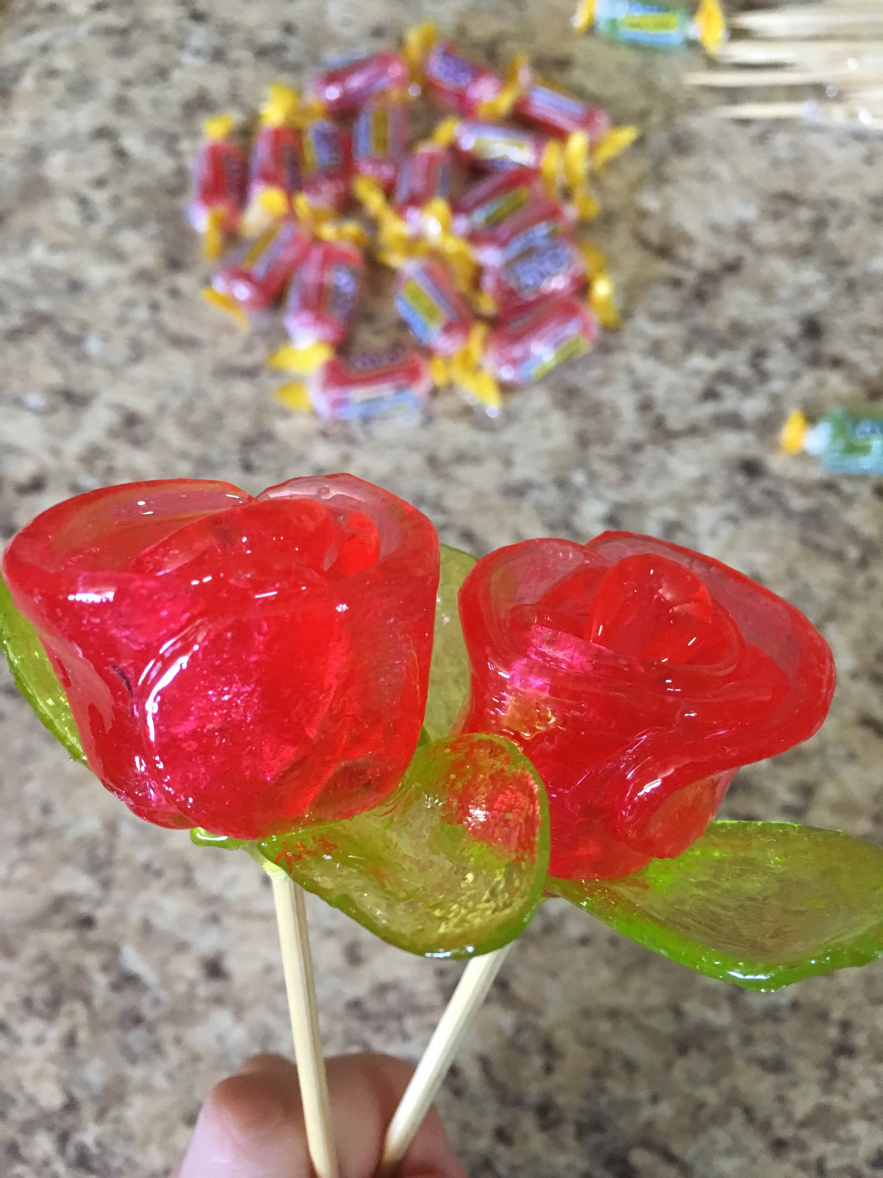 Microwave Jolly Rancher Roses