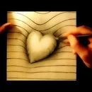 How to draw a 3D Heart Drawing on paper