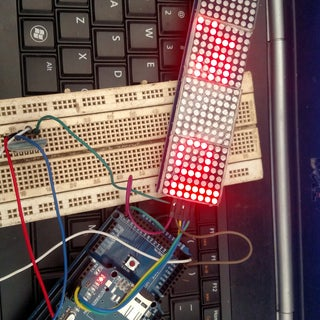 Easy Bluetooth Controlled Scrolling Text