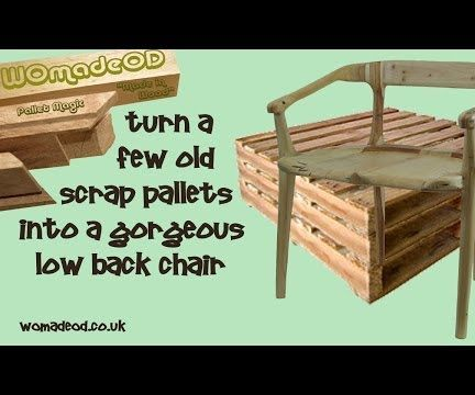 Low Back Pallet Chair