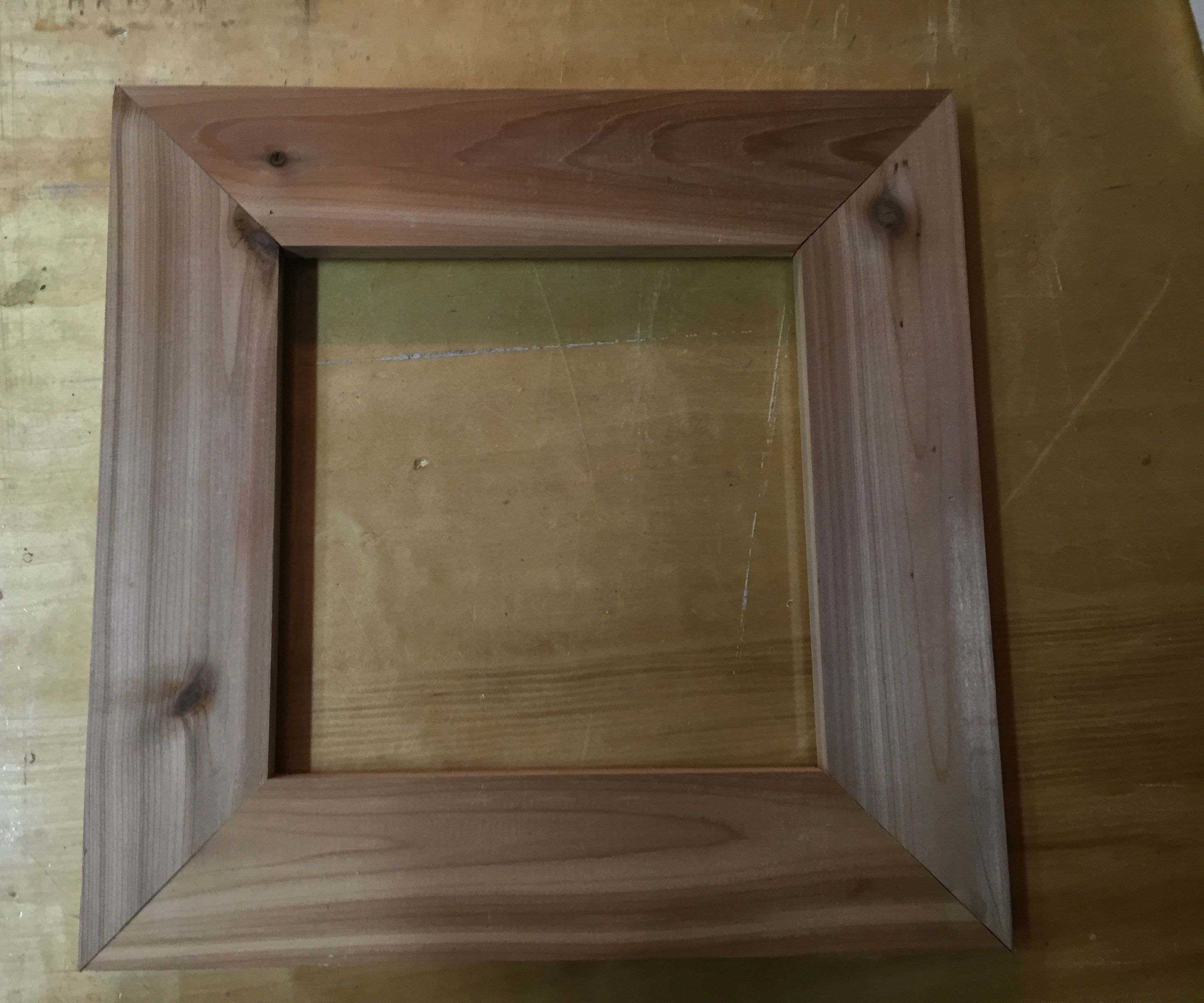 Cedar wood picture frame