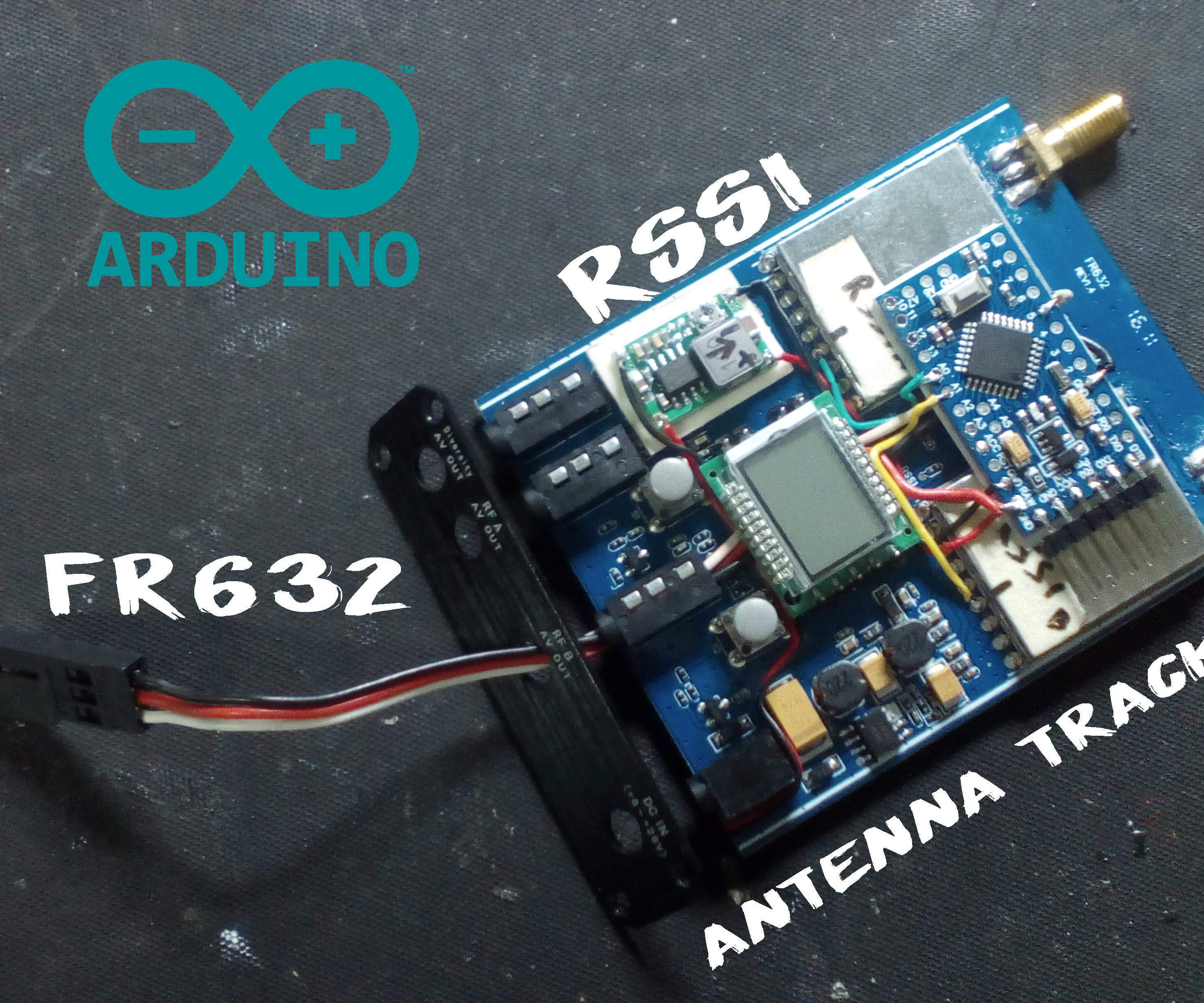 Arduino FR632 RSSI Antenna Tracker