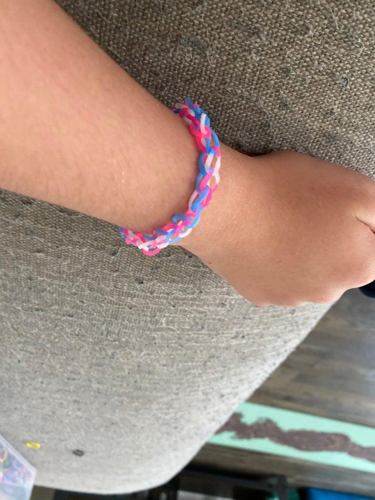 Rainbow Loom Single Bracelet (easiest for Beginners