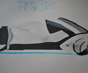Tron Legacy Light Cycle Drawing