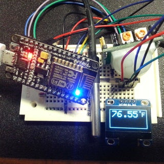 Nodemcu With OLED Display, PIR & DHT11
