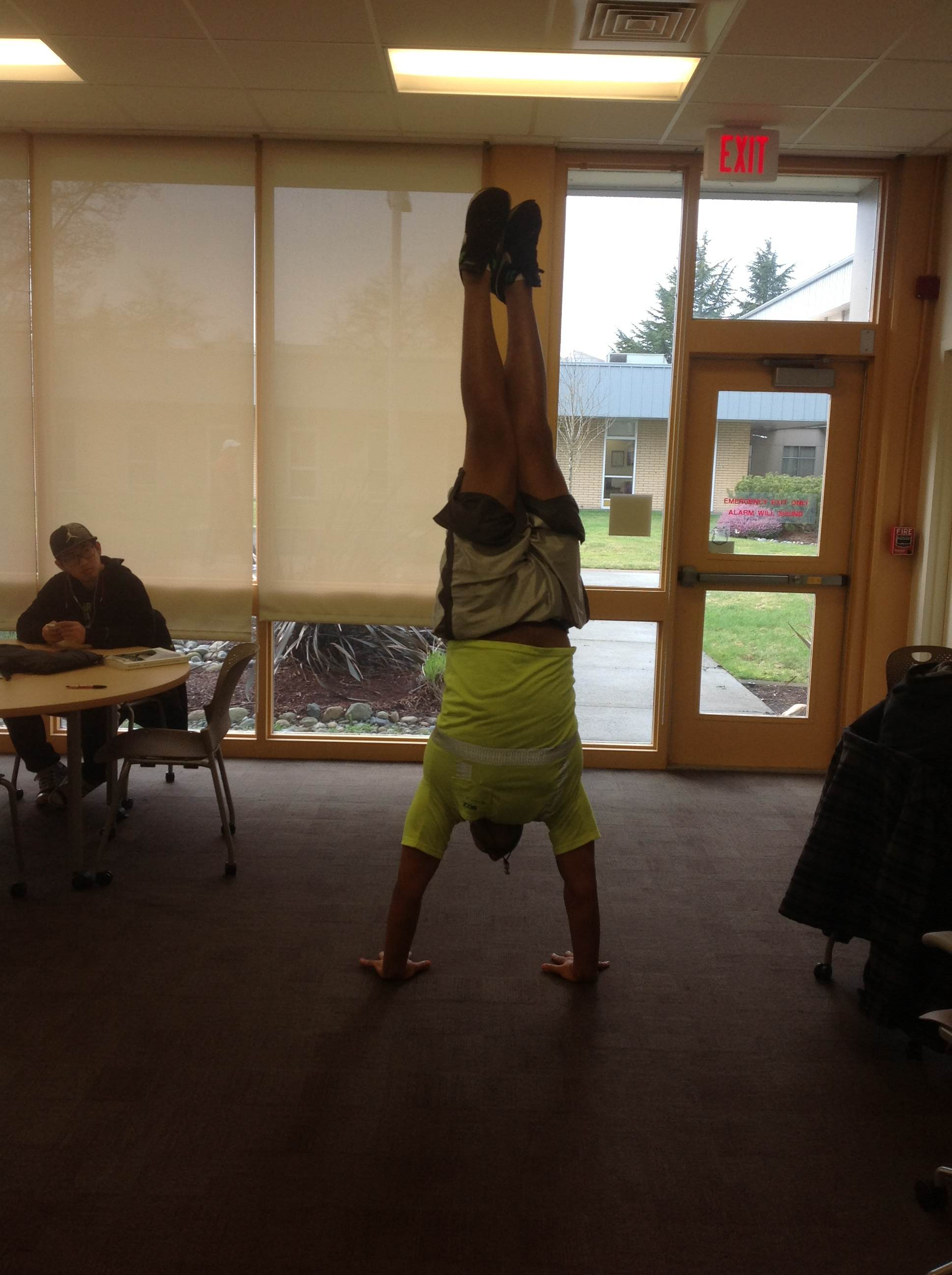 How to do a handstand.