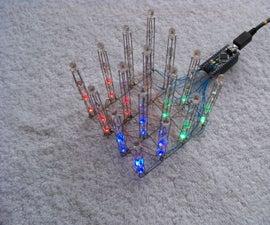 Charliecube -- Charlieplexed 4x4x4 RGB LED Cube