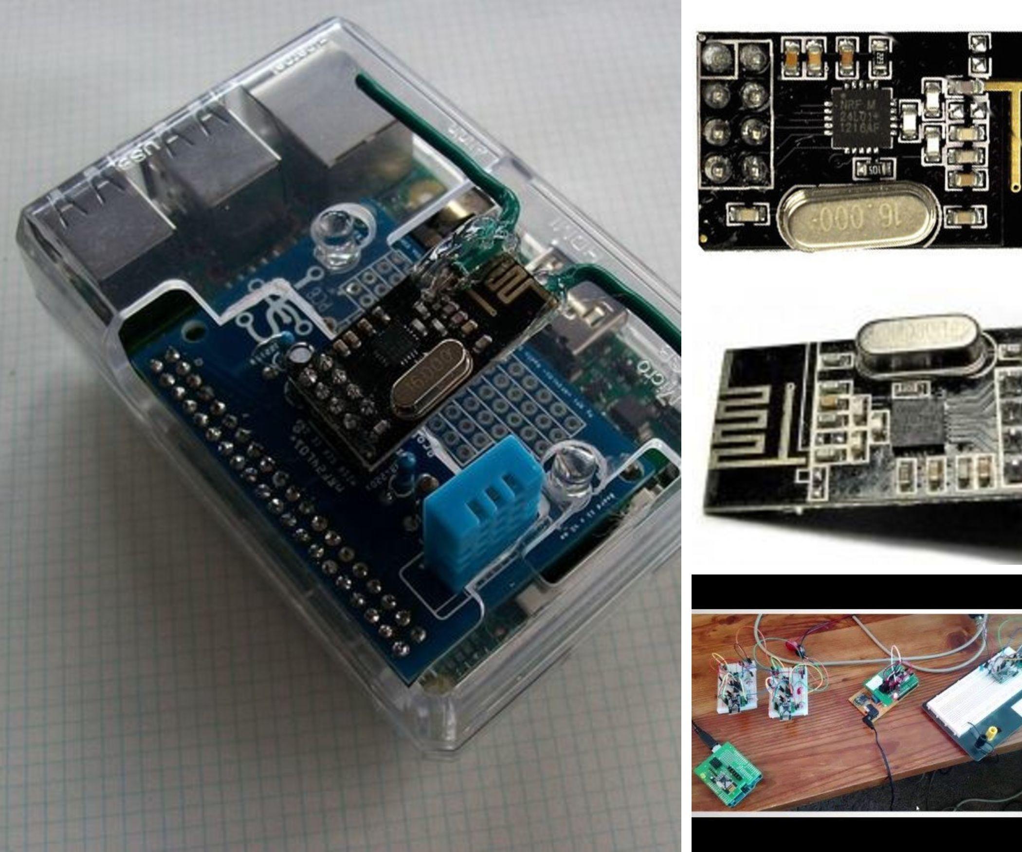 NRF24L01+ Remote Sensor Data Collection