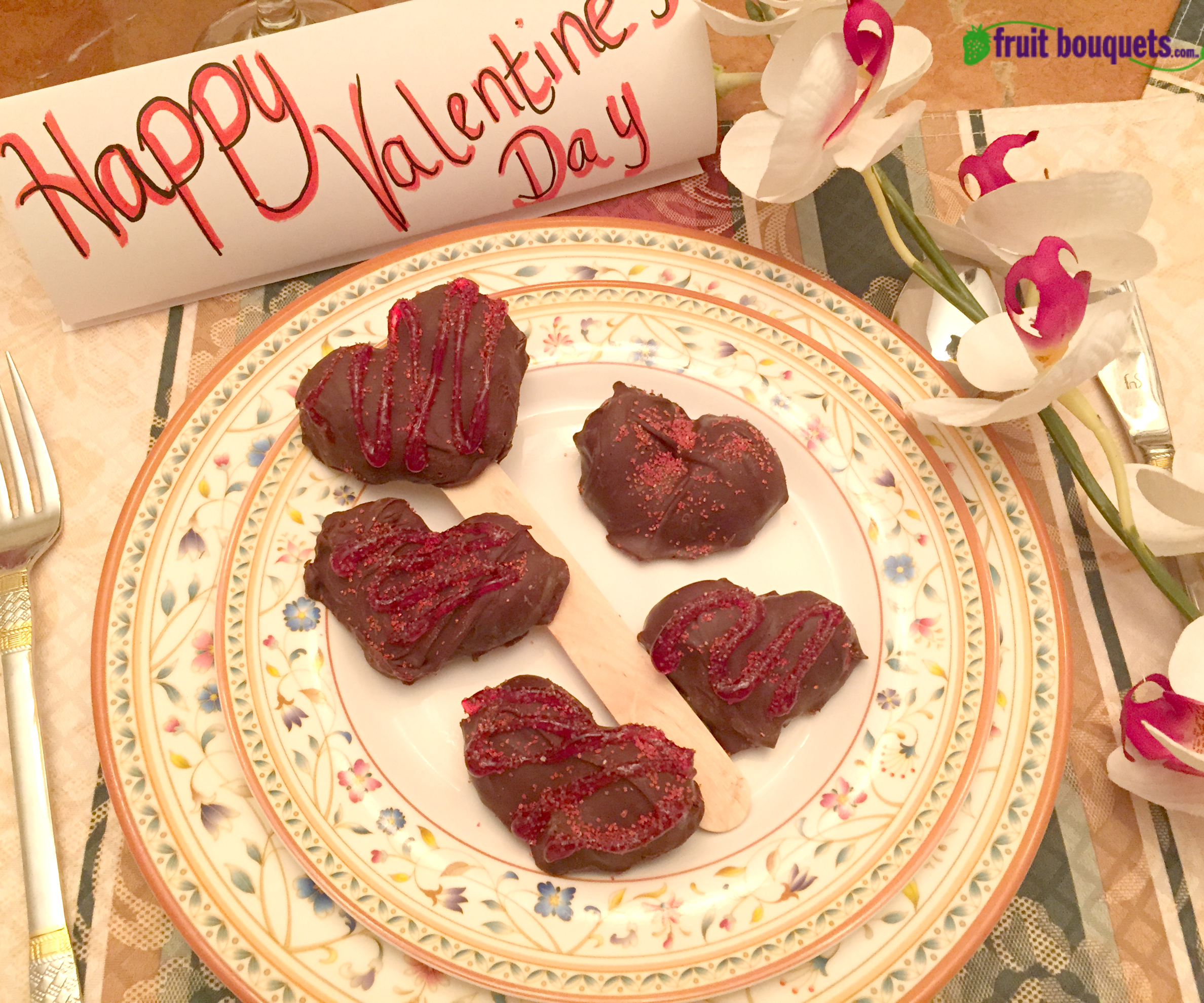 Fruit Bouquets' How to Make Valentines Chocolate Covered Strawberry Candy Hearts
