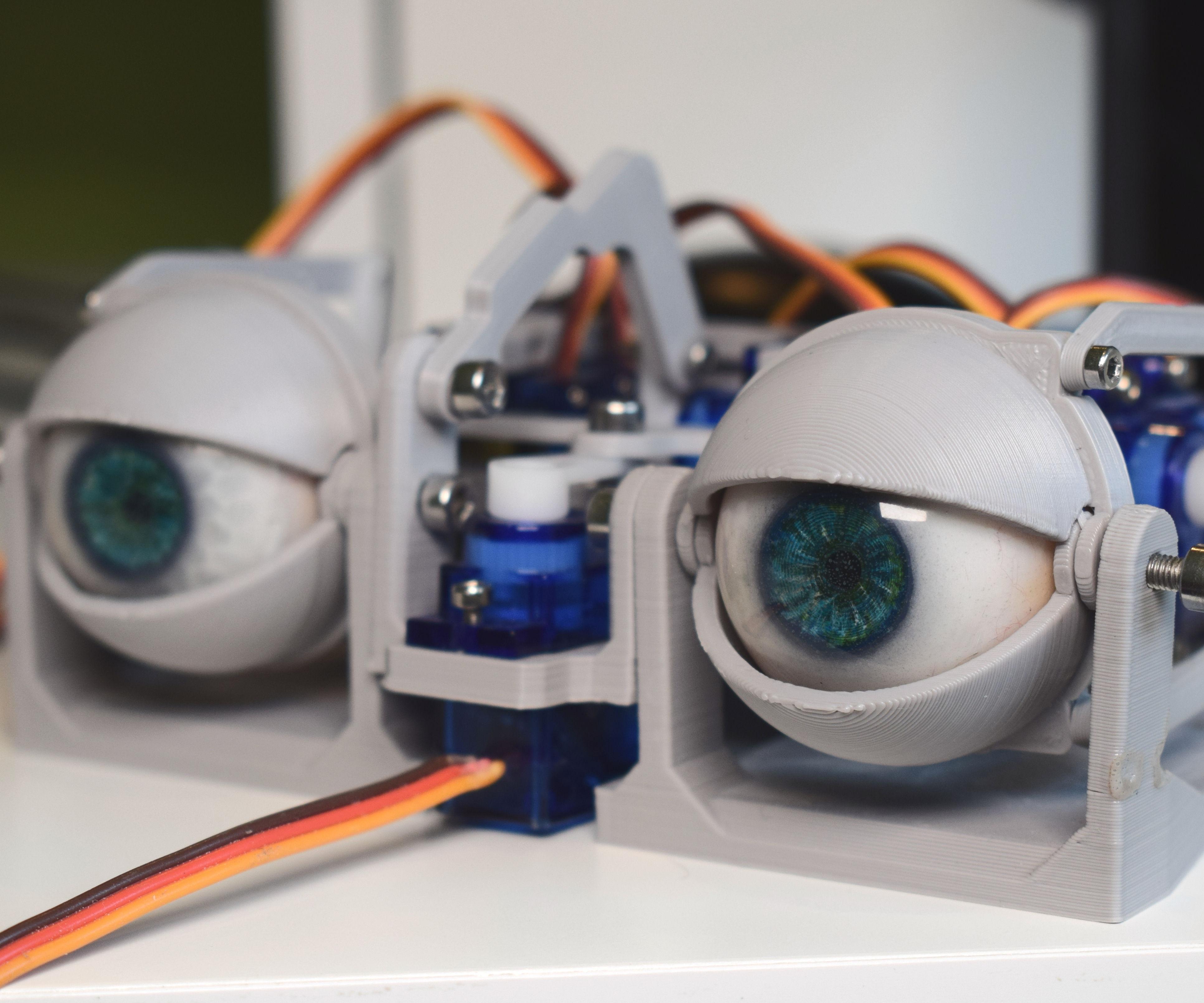 Simplified 3D Printed Animatronic Dual Eye Mechanism
