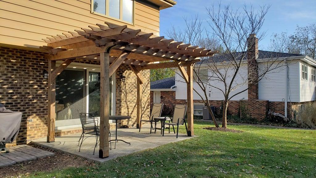 to build a pergola on a concrete patio