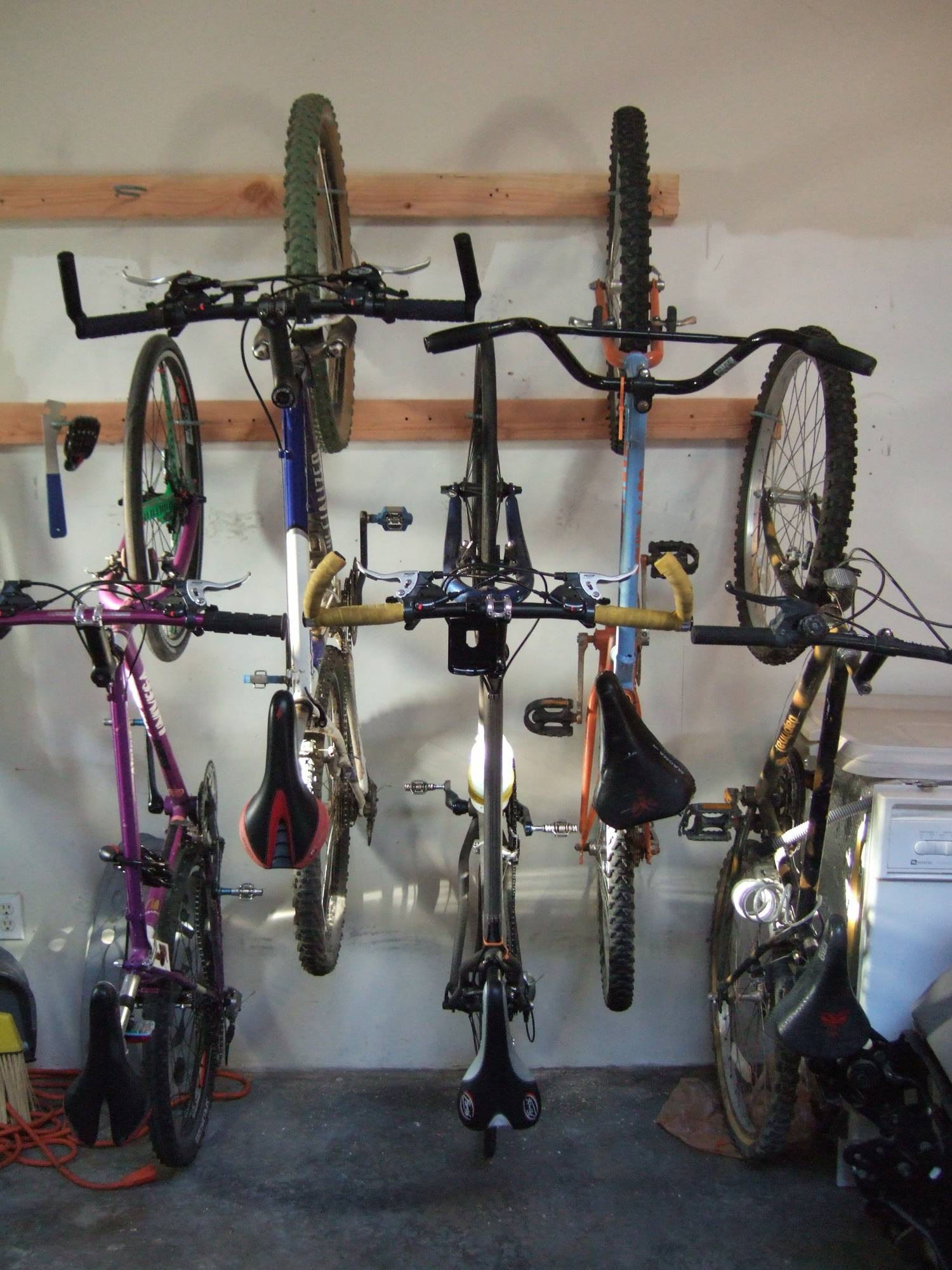 6 BIKE Hanging HOOKS Storage Bicycle LARGE Steel PVC Wall Hanger Brackets Rack