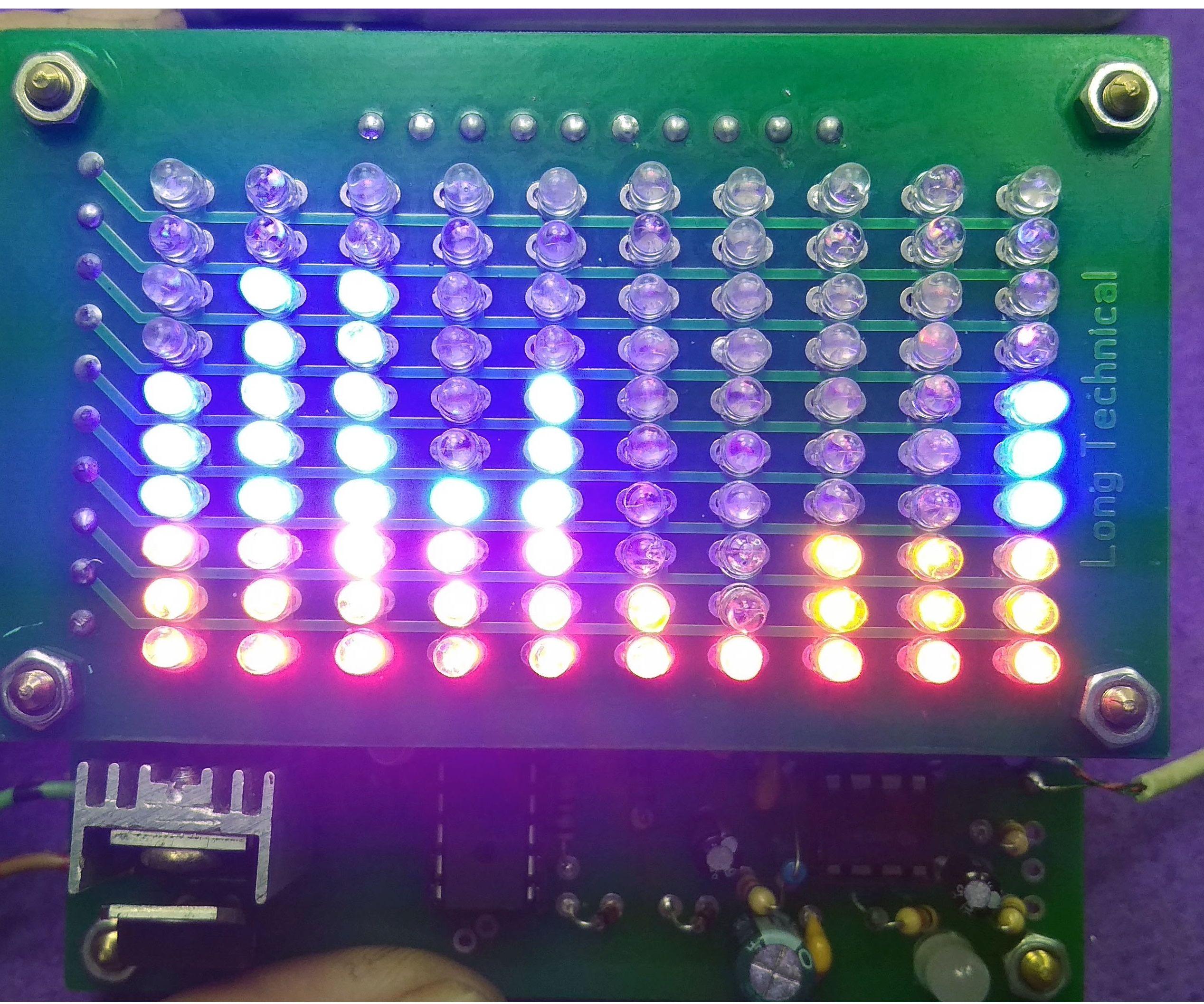 10 Band LED Spectrum Analyzer 20HZ - 20KHZ SCHEMATIC,PCB,CODE
