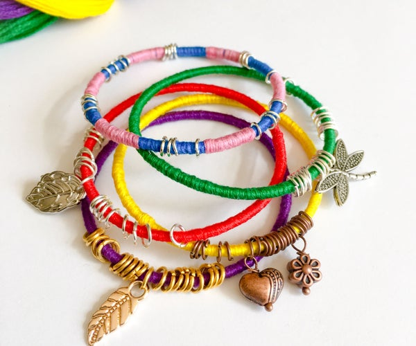String Wrapped Bangles