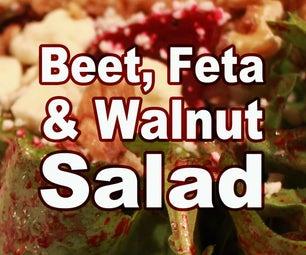 甜菜,羊毛脂和核桃沙拉