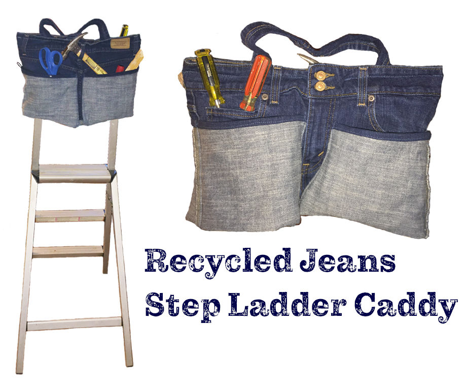 Recycled Jeans Step Ladder Caddy