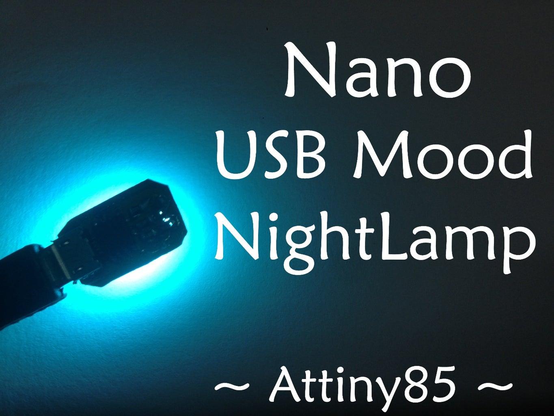 Nano Pocket Mood Lamp (USB)(Attiny85)