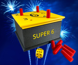 Super 6 - Family Dice Game - 3D Printed