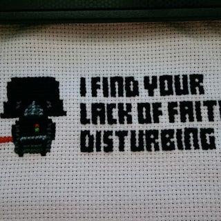 Darth Vader From Star Wars Cross Stitch Pattern Free Download