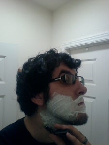 Step One Preping the Face. (Males)