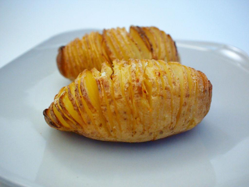 切片烤土豆