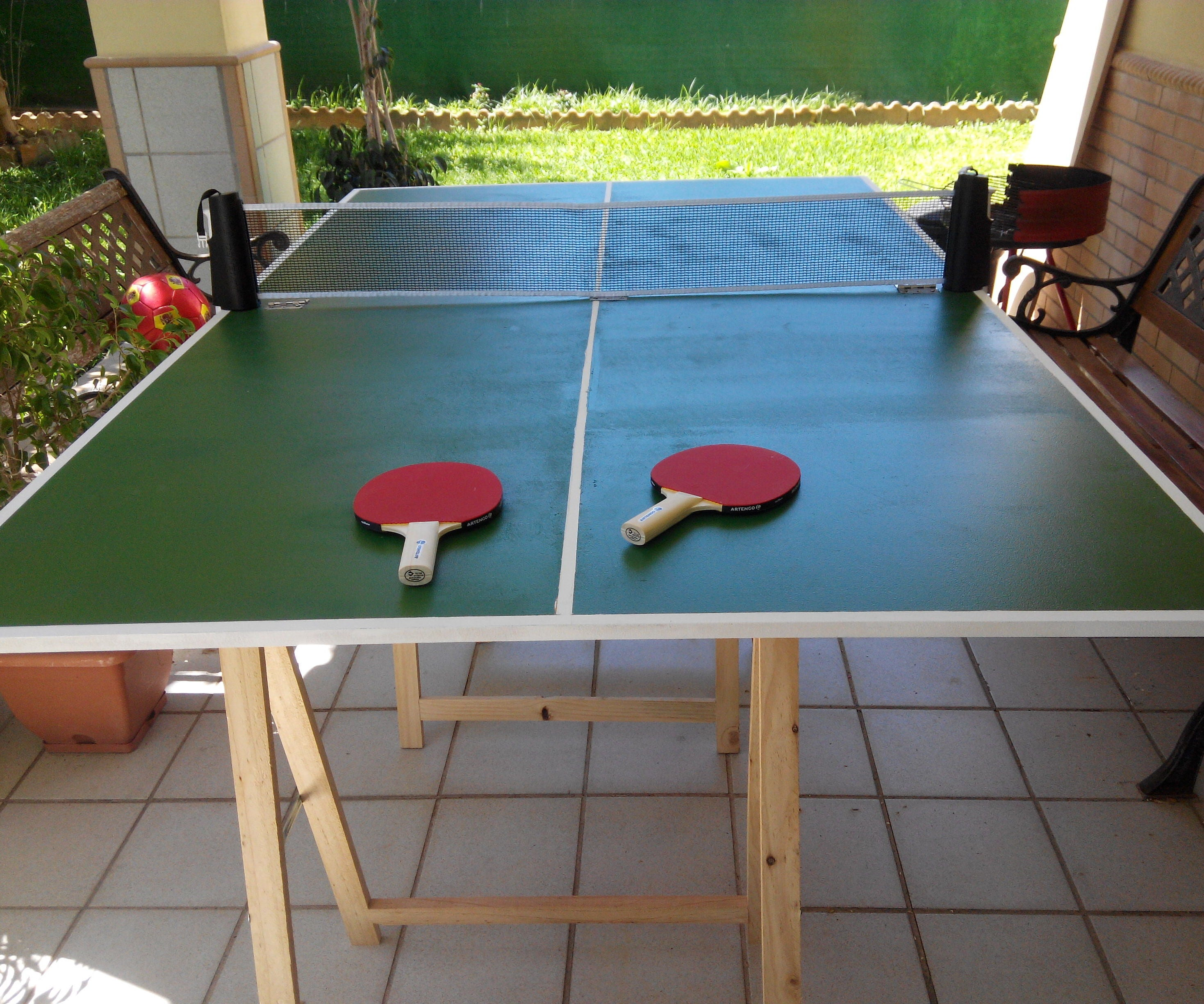 Easy Folding Ping-pong Table : 4 Steps (with Pictures) - Instructables