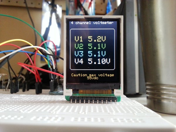 Make a Mini Arduino Programmable  4 Channel DC-DVM