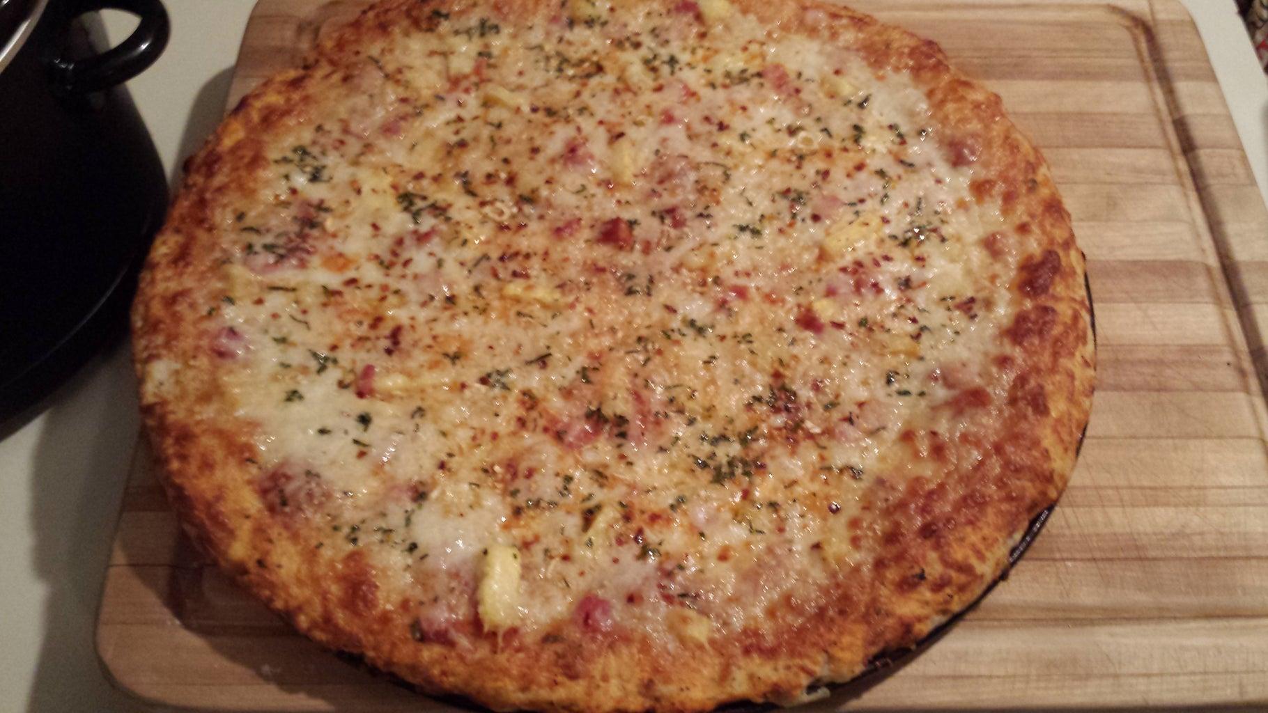 Super Yummy Homemade Pineapple, Ham, Scmorza Pizza!!!