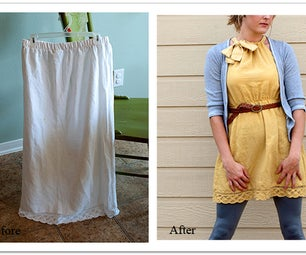 DIY Skirt to Dress Refashion