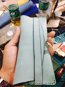 Sew the Stitching Line to Fnish This Wallet.
