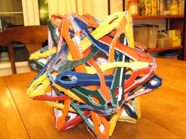 Uheska: a 3D Cardboard Stellation