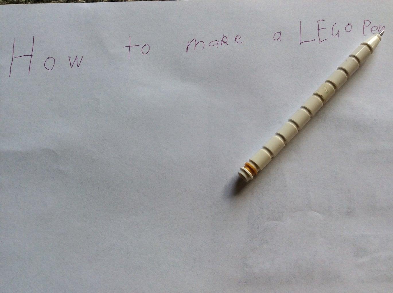 How to Make a LEGO Pen