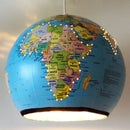 Upcycled Globe Lamp