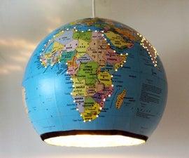 Upcycled Globe Lamp