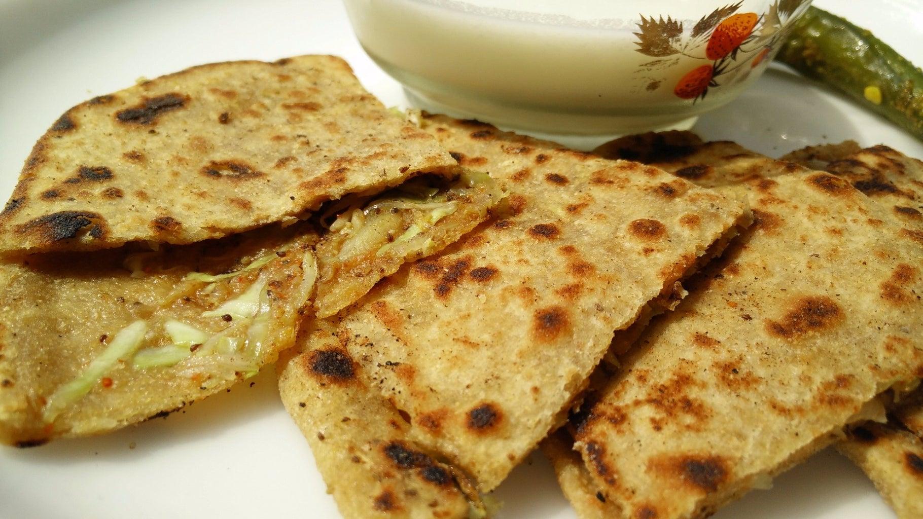 Crispy Cabbage Paratha