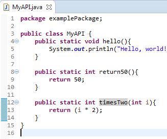 How to Develop and Use a Java API in Eclipse