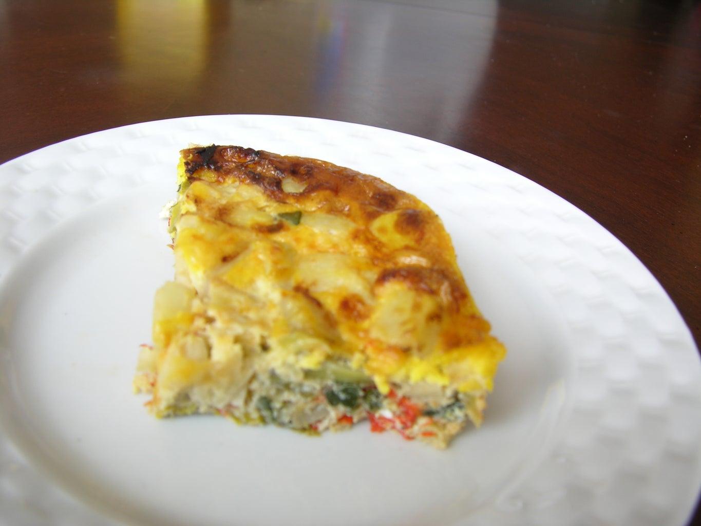 Leek Potato Egg Pie