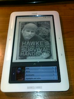 Using an eReader as a survial tool